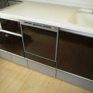 システムキッチンに食器洗浄機を設置