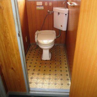 手洗とカウンター、タンクレストイレによるお洒落なリフォーム