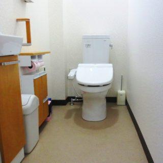 お店のお客様待合室のトイレリフォーム