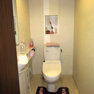 縦長の鏡が使い易いトイレ