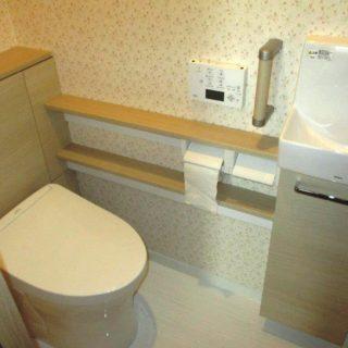 床がホーローパネルのトイレ