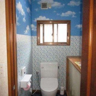 海の上にいるようなトイレ